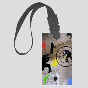 pAINTBALL aIM TWIN Large Luggage Tag