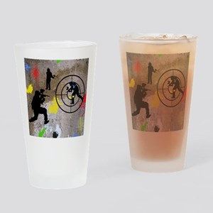 pAINTBALL aIM TWIN Drinking Glass