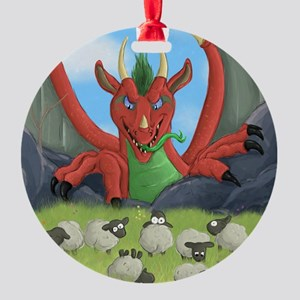 welsh dragon Round Ornament