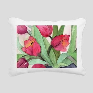Tulips Rectangular Canvas Pillow