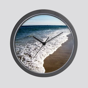 blue waters white wash for flip flops Wall Clock