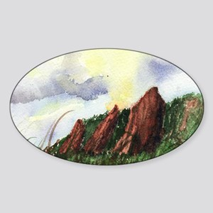 FlatironSunset Sticker (Oval)
