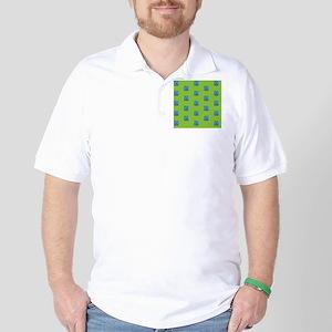 Duvet King Aqua owl pattern green Golf Shirt