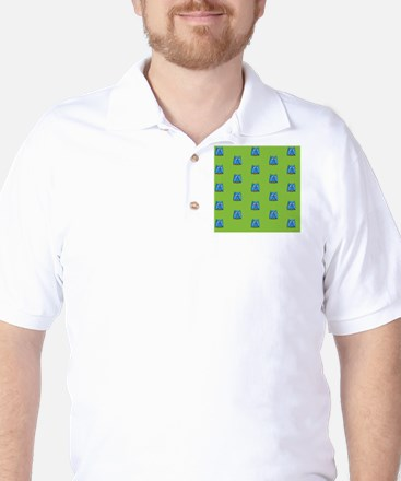 Duvet King Aqua owl pattern green Golf Shirt