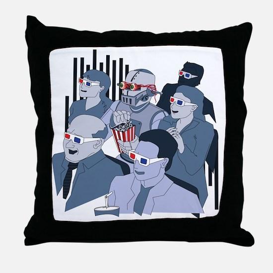 RobotAtMovies Throw Pillow