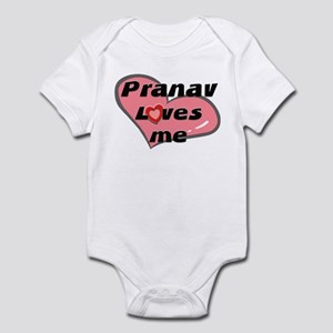 pranav loves me  Infant Bodysuit
