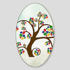 Autism Tree of Life Sticker (Oval)