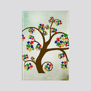 Autism Tree of Life Rectangle Magnet