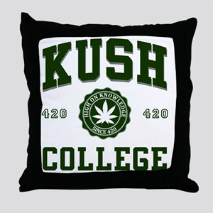 KUSH_COLLEGE_ Throw Pillow