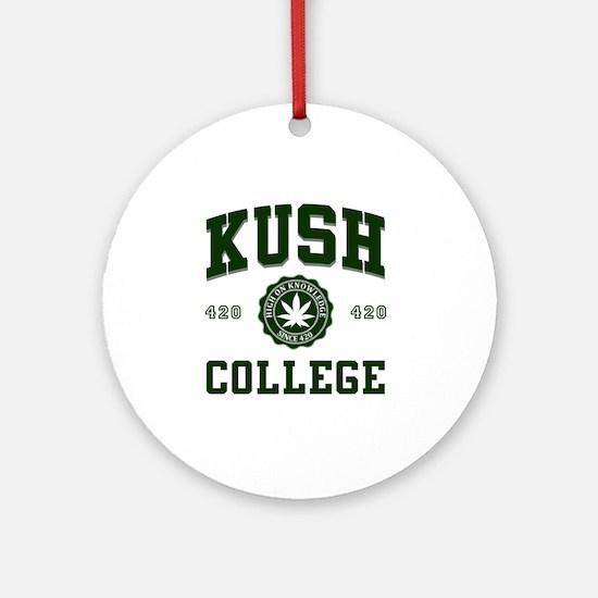 KUSH_COLLEGE_ Round Ornament