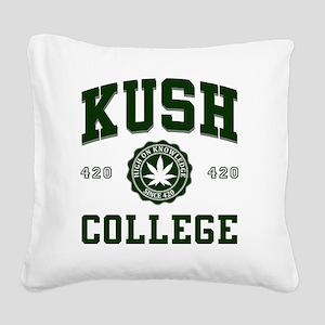 KUSH_COLLEGE_ Square Canvas Pillow