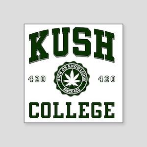 "KUSH_COLLEGE_ Square Sticker 3"" x 3"""