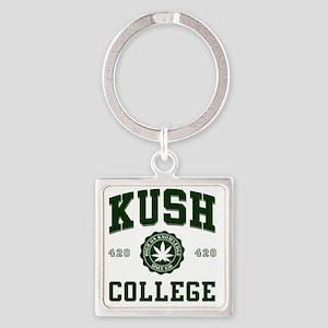 KUSH_COLLEGE_ Square Keychain