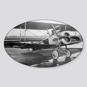 Final Weimaraner Dog on sopwith cam Sticker (Oval)