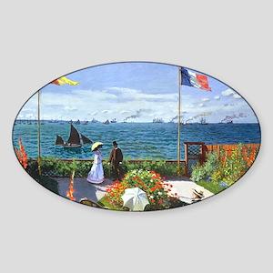 Coin Monet 2 Sticker (Oval)