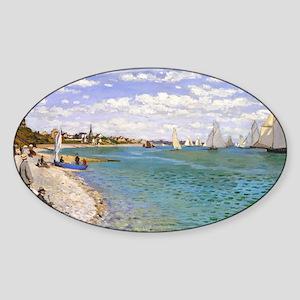 Coin Monet 1 Sticker (Oval)