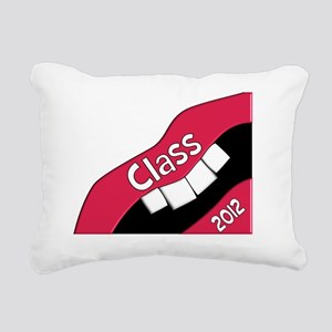Hygienist BIG LIPS darks Rectangular Canvas Pillow
