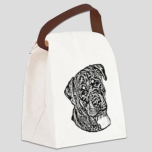 B@W Rottweiler Canvas Lunch Bag