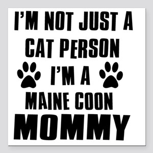 "Maine Coon Square Car Magnet 3"" x 3"""