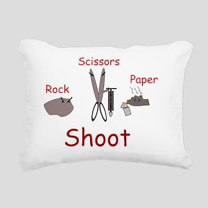 Rock Paper Scissors, sci Rectangular Canvas Pillow