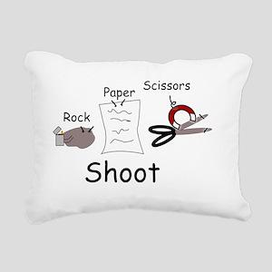 Rock Paper Scissors Rock Rectangular Canvas Pillow