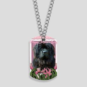 PinkTulipsNewfoundland_5x7_V Dog Tags