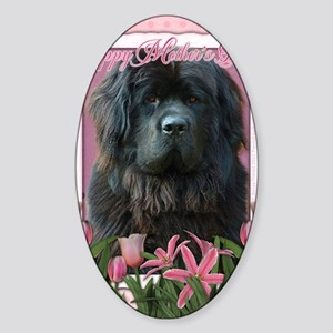 PinkTulipsNewfoundland_5x7_V Sticker (Oval)