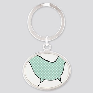 chick-big-2 Oval Keychain