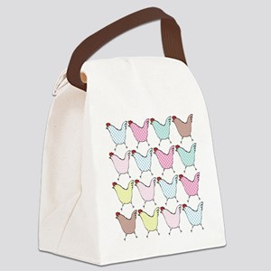 chick-dots Canvas Lunch Bag