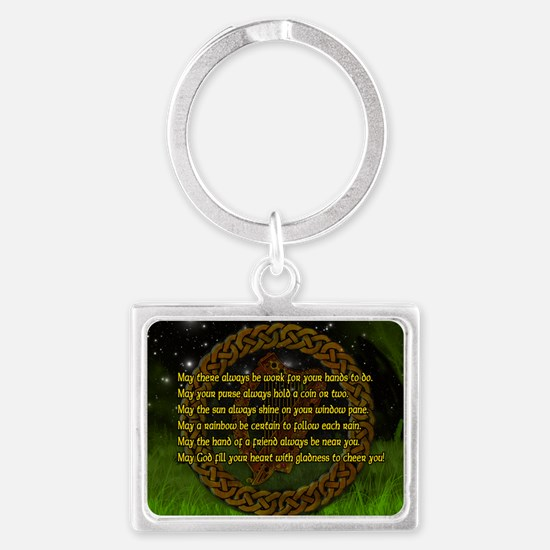 IRISH-BLESSING-14x10_LARGE-FRAM Landscape Keychain
