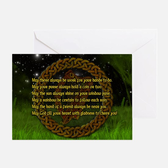 IRISH-BLESSING-14x10_LARGE-FRAMED-pr Greeting Card