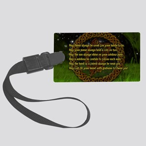 IRISH-BLESSING-14x10_LARGE-FRAME Large Luggage Tag