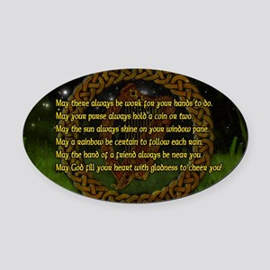 IRISH-BLESSING-14x10_LARGE-FRAMED- Oval Car Magnet