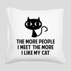 peopleCat1A Square Canvas Pillow