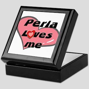 perla loves me Keepsake Box