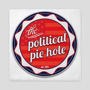 Political-Pie-Hole-Vector-Badge-No-Rib Queen Duvet