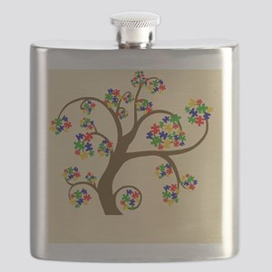 Autism Tree of Life Flask