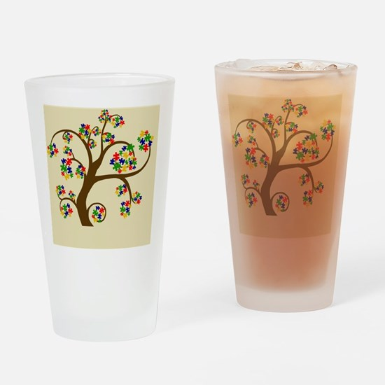 Autism Tree of Life Drinking Glass