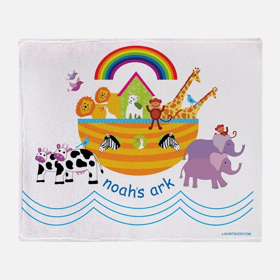 Noahs Ark Animals Throw Blanket
