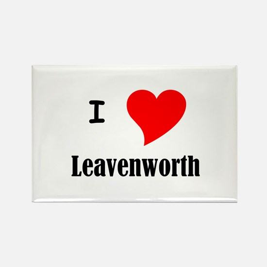 I Love Leavenworth Rectangle Magnet