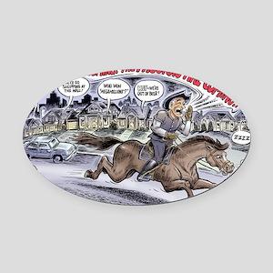 ron_paul_revere_cartoon Oval Car Magnet