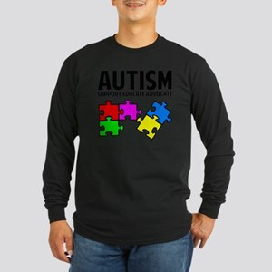 autismSup1A Long Sleeve Dark T-Shirt