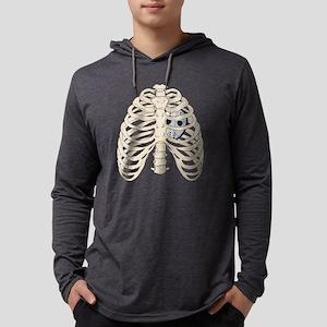 Hockey Heart Mens Hooded Shirt