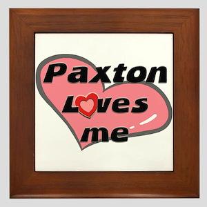 paxton loves me  Framed Tile