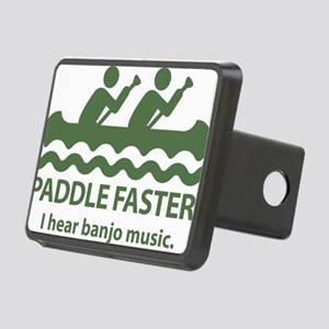 PaddleFasterIHearBanjoMusi Rectangular Hitch Cover