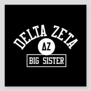 """Delta Zeta Big Sister Square Car Magnet 3"""" x 3"""""""