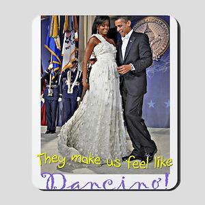 Dancing Obamas Mousepad