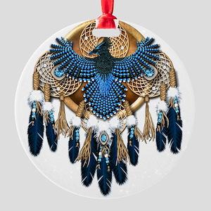 Stellers Jay Mandala - transparent Round Ornament