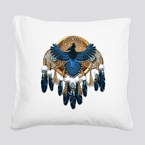 Stellers Jay Mandala - transp Square Canvas Pillow