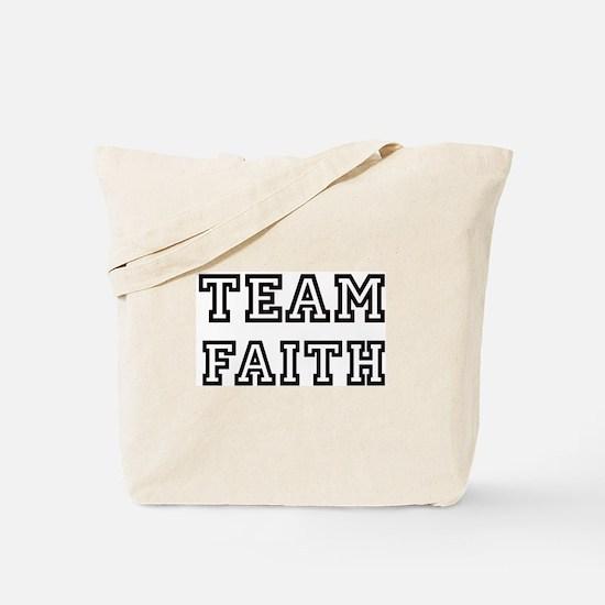 Team FAITH Tote Bag